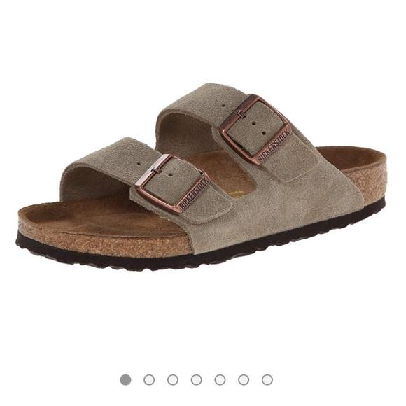 533653122a6 Birkenstock Arizona unisex taupe suede sandal - 36